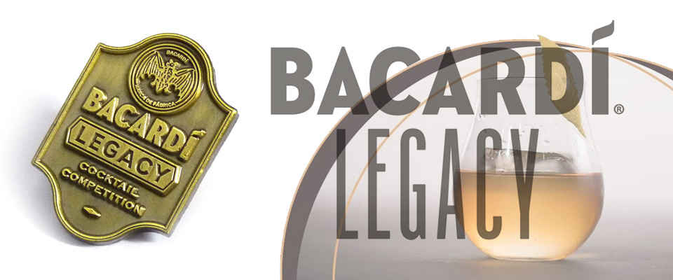 wholesale custom badges made for the 2018 Bacardi Legacy cocktail competition