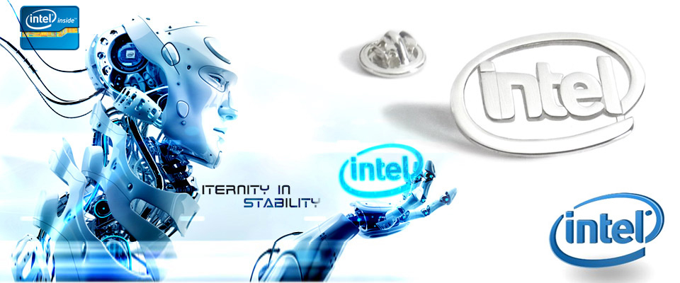 Silver badges handmade for Intel